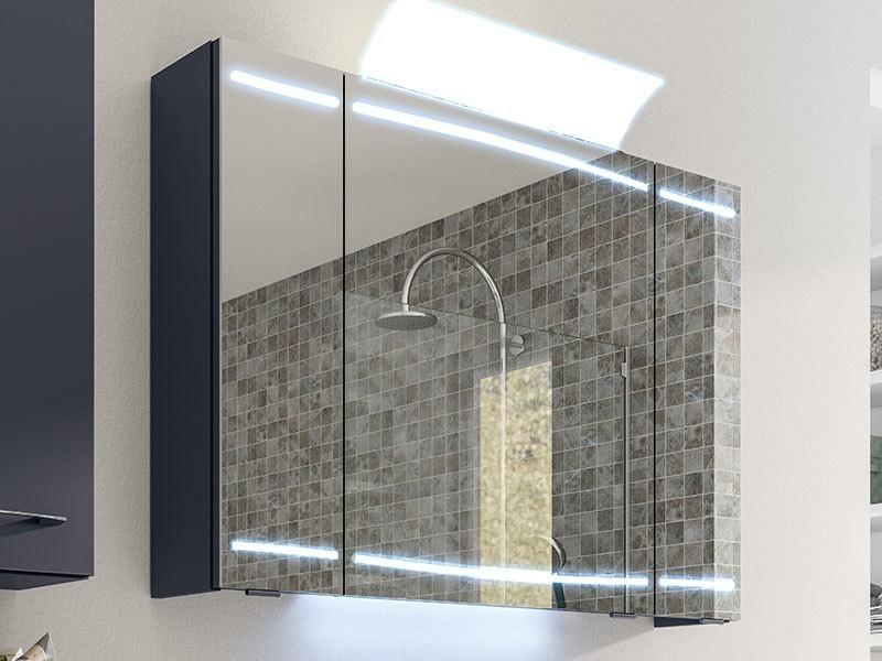 pelipal cassca spiegelschrank mit led beleuchtung in den t ren. Black Bedroom Furniture Sets. Home Design Ideas
