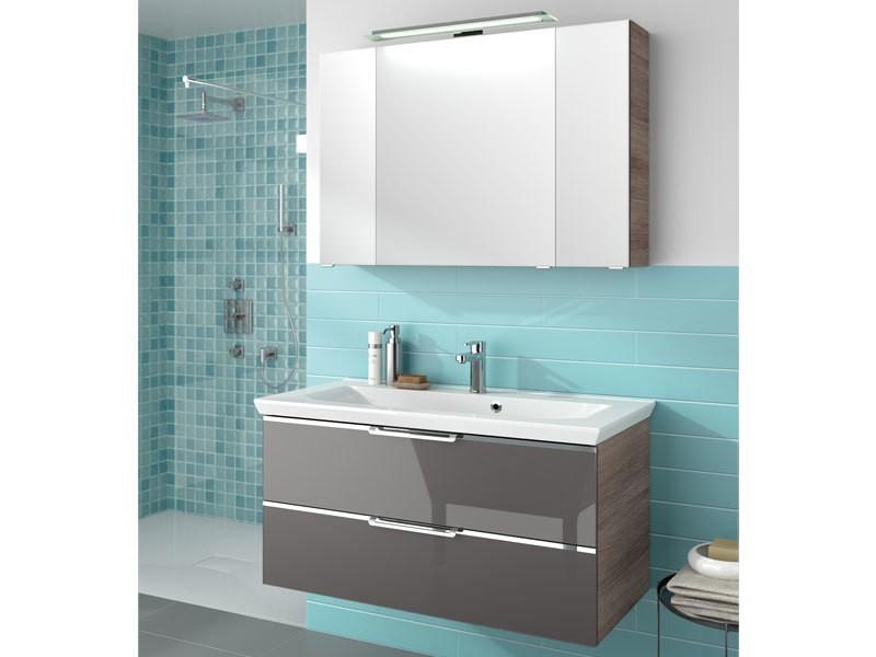 pelipal trentino badm bel set breite 1100mm mit glasfront. Black Bedroom Furniture Sets. Home Design Ideas