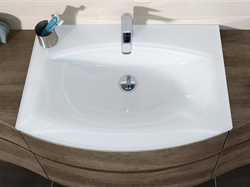 sanipa curvebay glaswaschtisch. Black Bedroom Furniture Sets. Home Design Ideas
