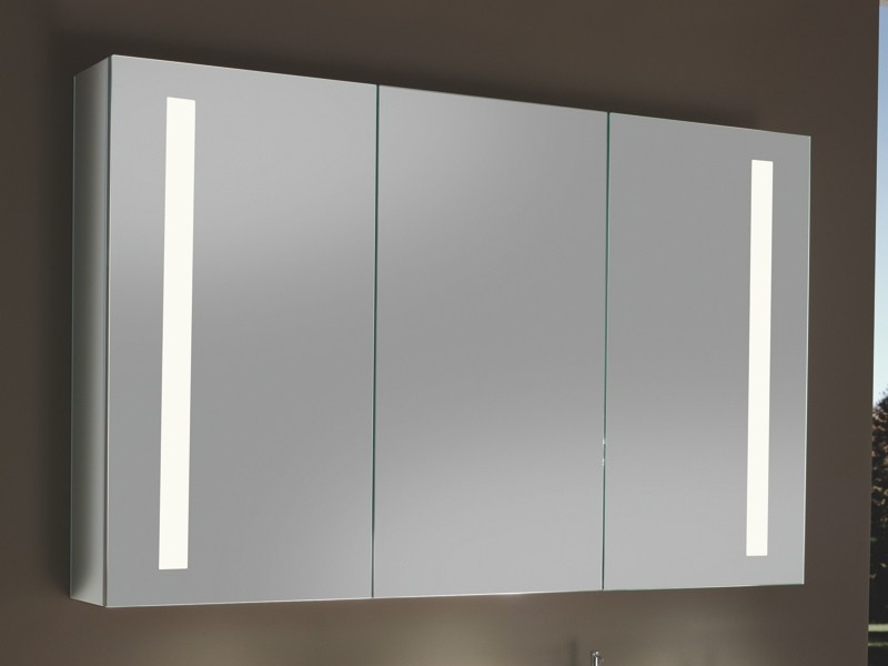 Sanipa Reflection LED Spiegelschrank Alu vertikal | BadDepot.de