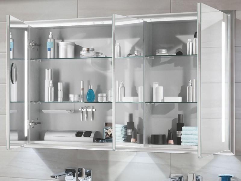 sanipa reflection led spiegelschrank alu vertikal. Black Bedroom Furniture Sets. Home Design Ideas
