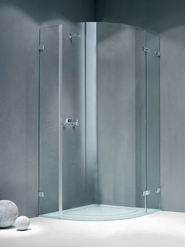 sprinz fortuna rahmenlos viertelkreis duschkabine. Black Bedroom Furniture Sets. Home Design Ideas