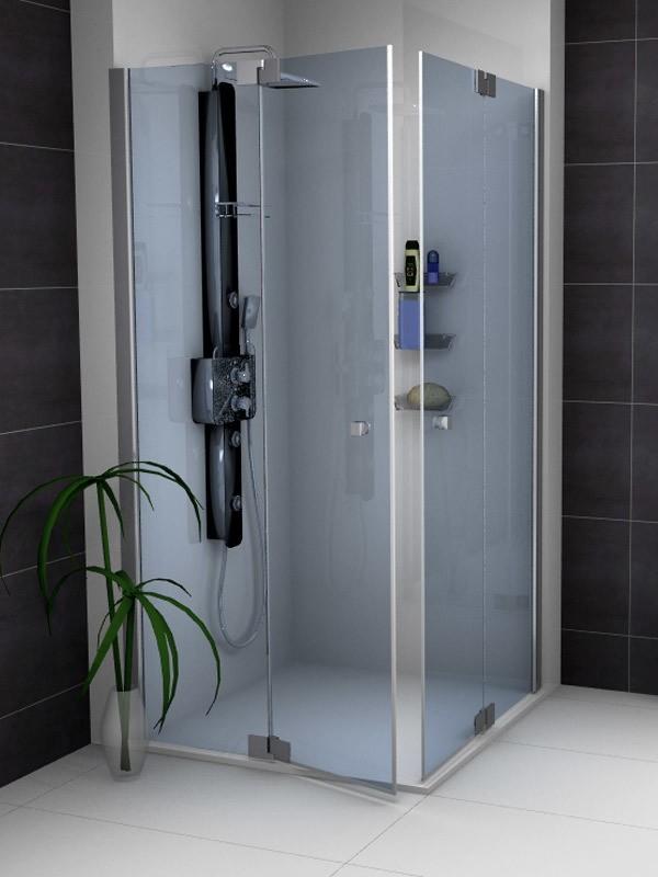 sprinz omega eckeinstieg duschkabine mit pendelt ren und festfel. Black Bedroom Furniture Sets. Home Design Ideas
