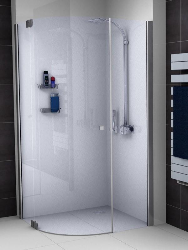 sprinz omega viertelkreis duschkabine mit einer schwingt r. Black Bedroom Furniture Sets. Home Design Ideas