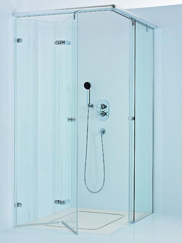 sprinz onyx eckeinstieg duschkabine mit faltt r und gleitt r. Black Bedroom Furniture Sets. Home Design Ideas