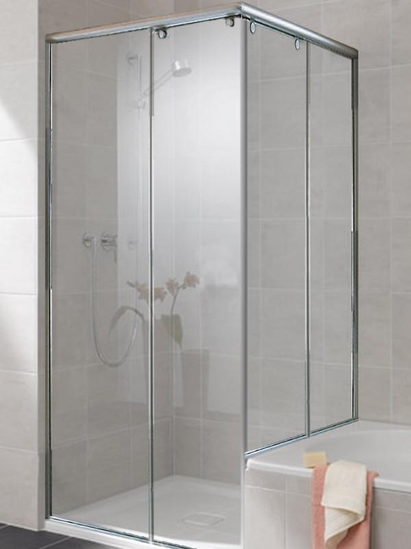 sprinz topas eckeinstieg duschkabine mit gleitt r 2 teilig f r badewannenrand. Black Bedroom Furniture Sets. Home Design Ideas