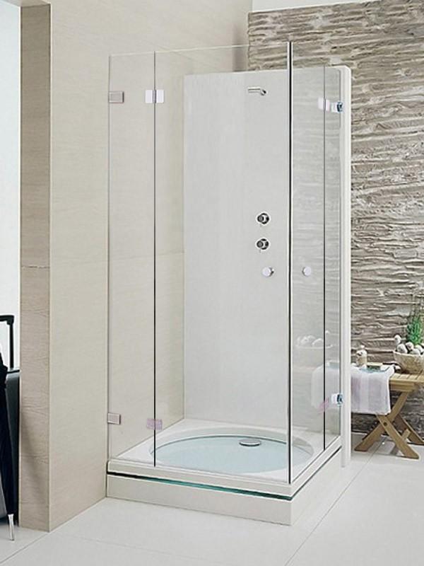 sprinz xxl eckeinstieg duschkabine mit dreht ren und festfeldern. Black Bedroom Furniture Sets. Home Design Ideas