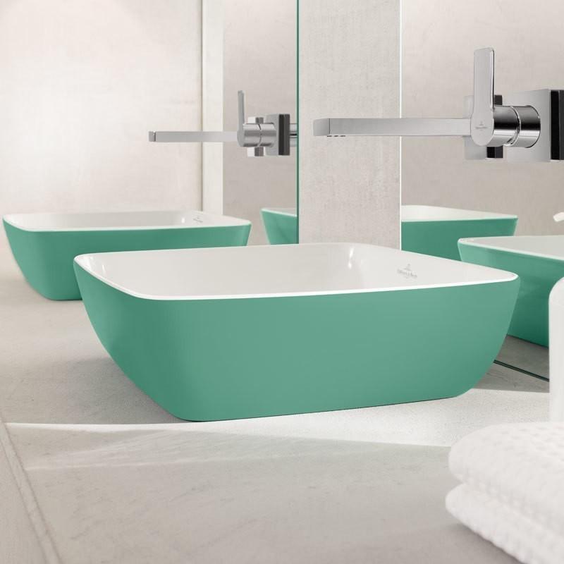 villeroy boch artis aufsatzwaschtisch quadratisch. Black Bedroom Furniture Sets. Home Design Ideas