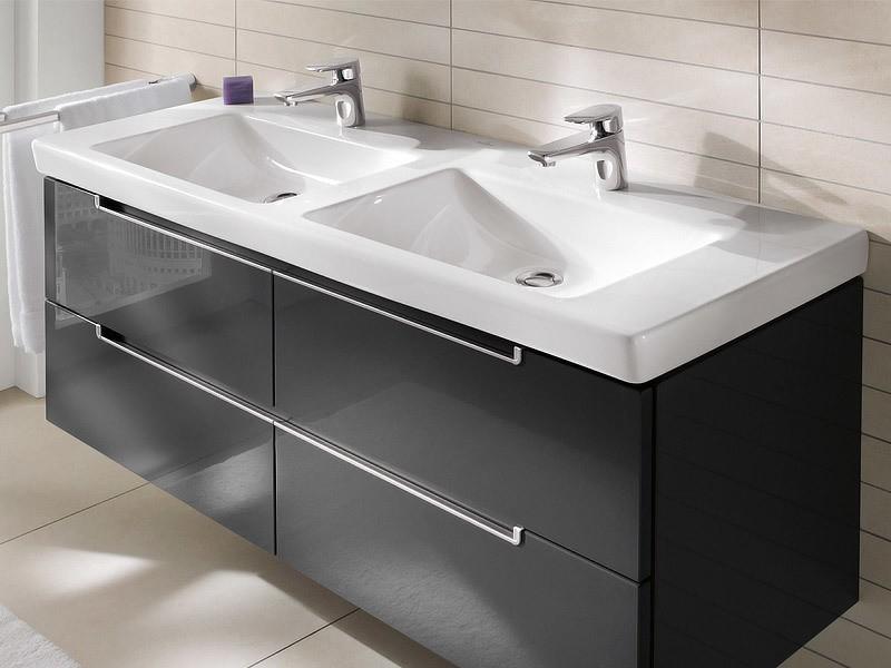 villeroy boch subway 2 0 doppelwaschtisch. Black Bedroom Furniture Sets. Home Design Ideas