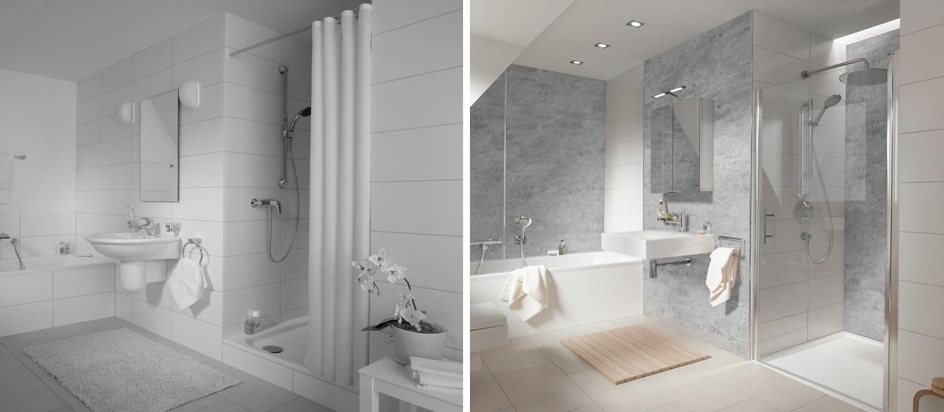 Wandverkleidung für Duschkabinen   BadDepot.de