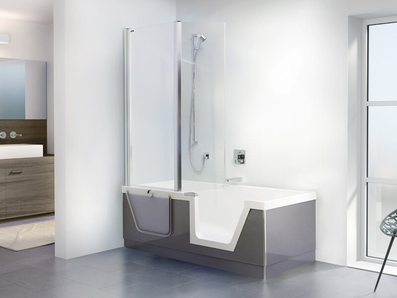 Badewanne mit duschbereich  Dusch- und Badewannen Kombinationen - Der Problemlöser für enge ...