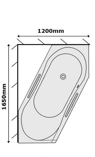 koralle t200 facette sechseck badewanne. Black Bedroom Furniture Sets. Home Design Ideas