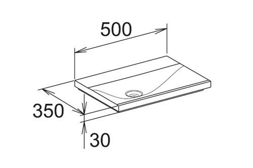 keuco royal reflex mineralguss waschtisch. Black Bedroom Furniture Sets. Home Design Ideas