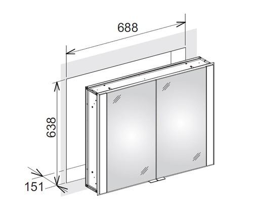 keuco royal 60 spiegelschrank. Black Bedroom Furniture Sets. Home Design Ideas