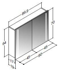 scanbad multo spiegelschrank led beleuchtung vertikal. Black Bedroom Furniture Sets. Home Design Ideas