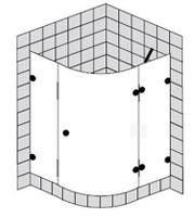 sprinz spinell plus viertelkreis duschkabine mit einer schwingt r. Black Bedroom Furniture Sets. Home Design Ideas