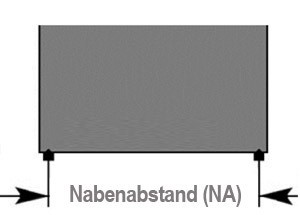 Nabenabstand:<br> 467, 565, 663 mm