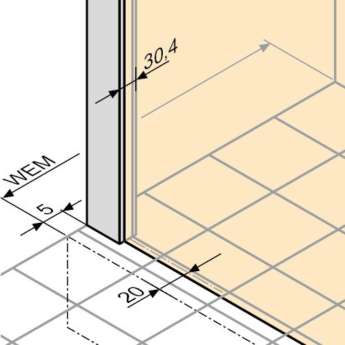 h ppe alpha 2 eck duschkabine gleitt r 3 teilig. Black Bedroom Furniture Sets. Home Design Ideas