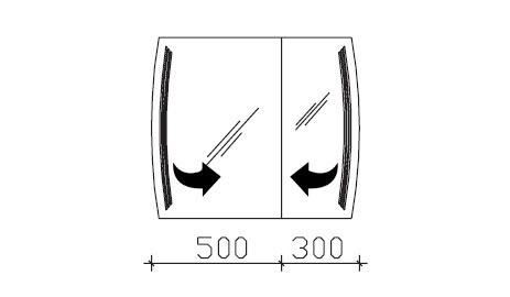 pelipal solitaire 7025 spiegelschrank mit led beleuchtung in den t ren. Black Bedroom Furniture Sets. Home Design Ideas