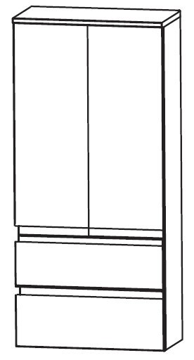 2 Türen - 2 Auszüge