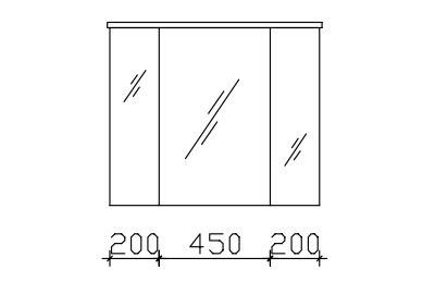 pelipal balto spiegelschrank inkl led beleuchtung im kranz. Black Bedroom Furniture Sets. Home Design Ideas