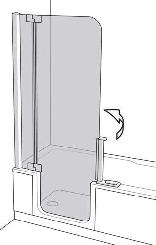 artweger twinline 2 dusch badewanne mit t r. Black Bedroom Furniture Sets. Home Design Ideas
