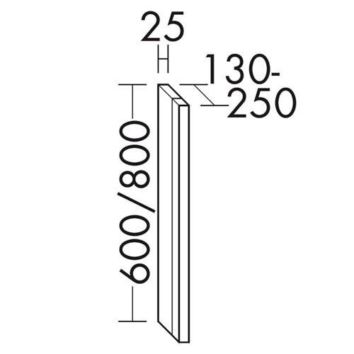 burgbad sys30 led leuchte vertikal f r burgbad spiegelschrank massflexibel. Black Bedroom Furniture Sets. Home Design Ideas