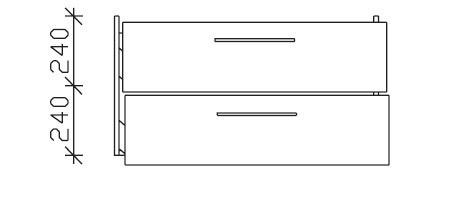 Pelipal Solitaire 9005 Waschtischunterschrank Für Keramag Renova Nr