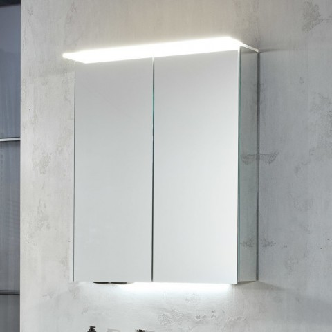 Sanipa Reflection LED Alu-Spiegelschrank Anny