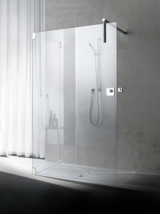 Kermi Walk-in-Shower XS Free mit Seitenwand