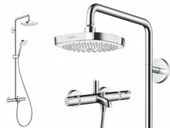 Hansgrohe Croma Select E 180 2jet Showerpipe Wanne