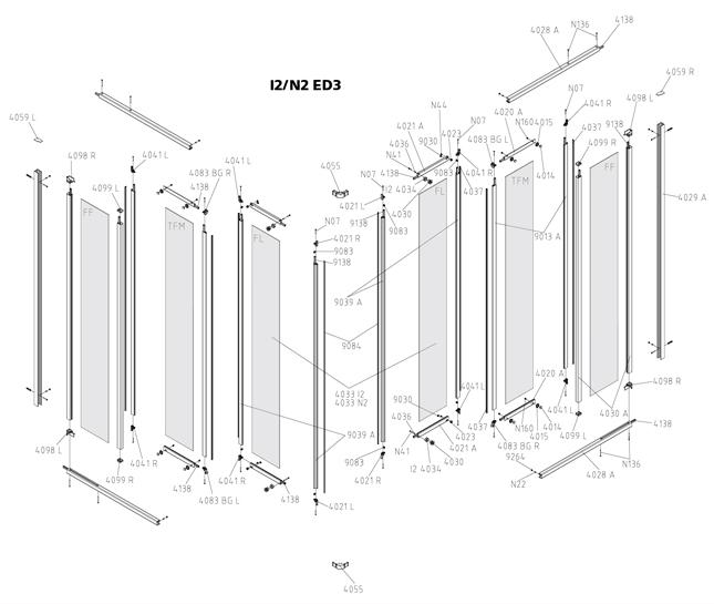 kermi ibiza 2000 eckeinstieg gleitt r 3 teilig i2 ed3 ersatzteile duschkabine g nstig kaufen. Black Bedroom Furniture Sets. Home Design Ideas