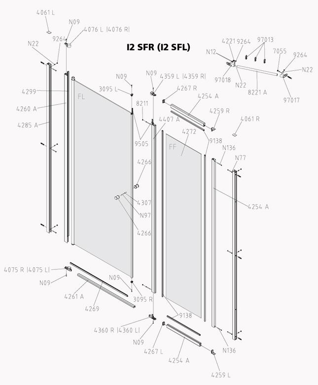 kermi ibiza 2000 schwingt r mit gerahmten festfeld i2 sfr l ersatzteile duschkabine g nstig. Black Bedroom Furniture Sets. Home Design Ideas