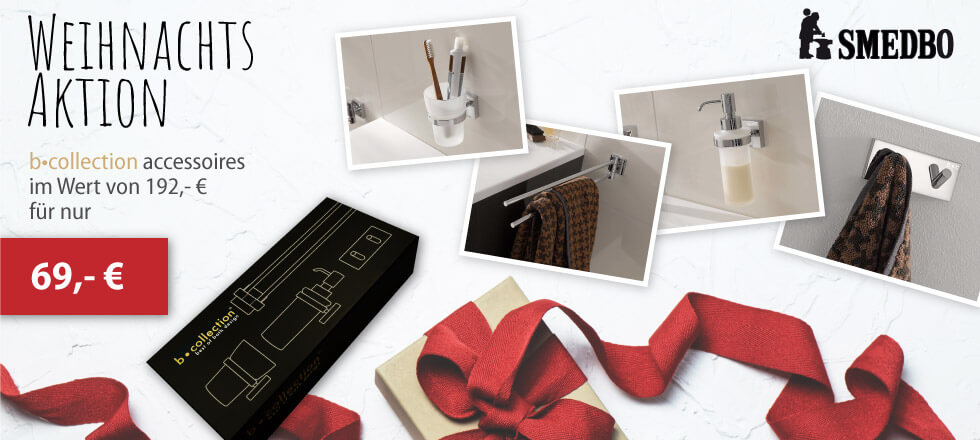 Banner b•collection Weihnachtsaktion