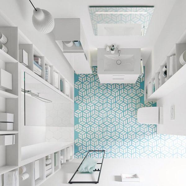 Kleines bad gestalten for Kleines bad stauraum
